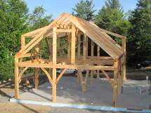 Kickoff Of Timberhomes Llc' Post And Beam Home