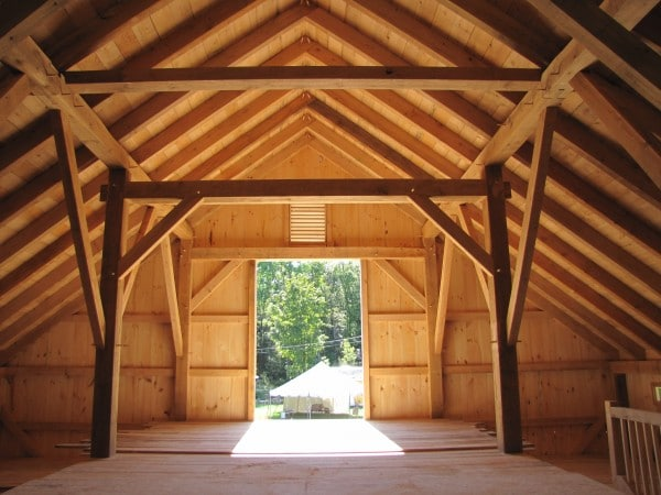 Timber Frame Barn in Landgrove Vermont
