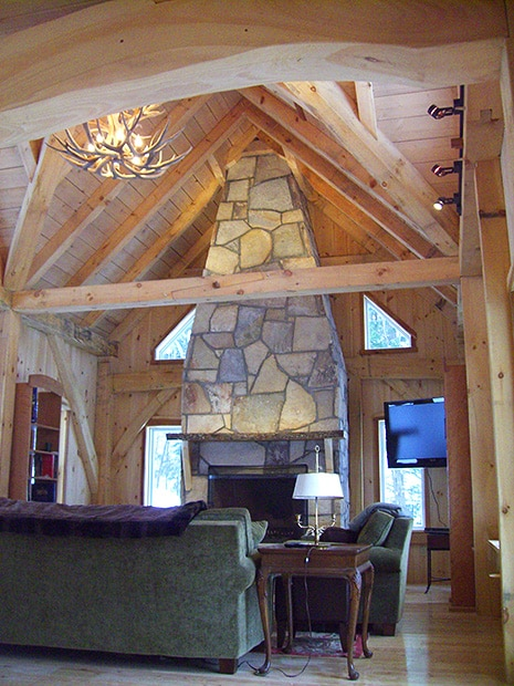 Great Room with Stone Hearth