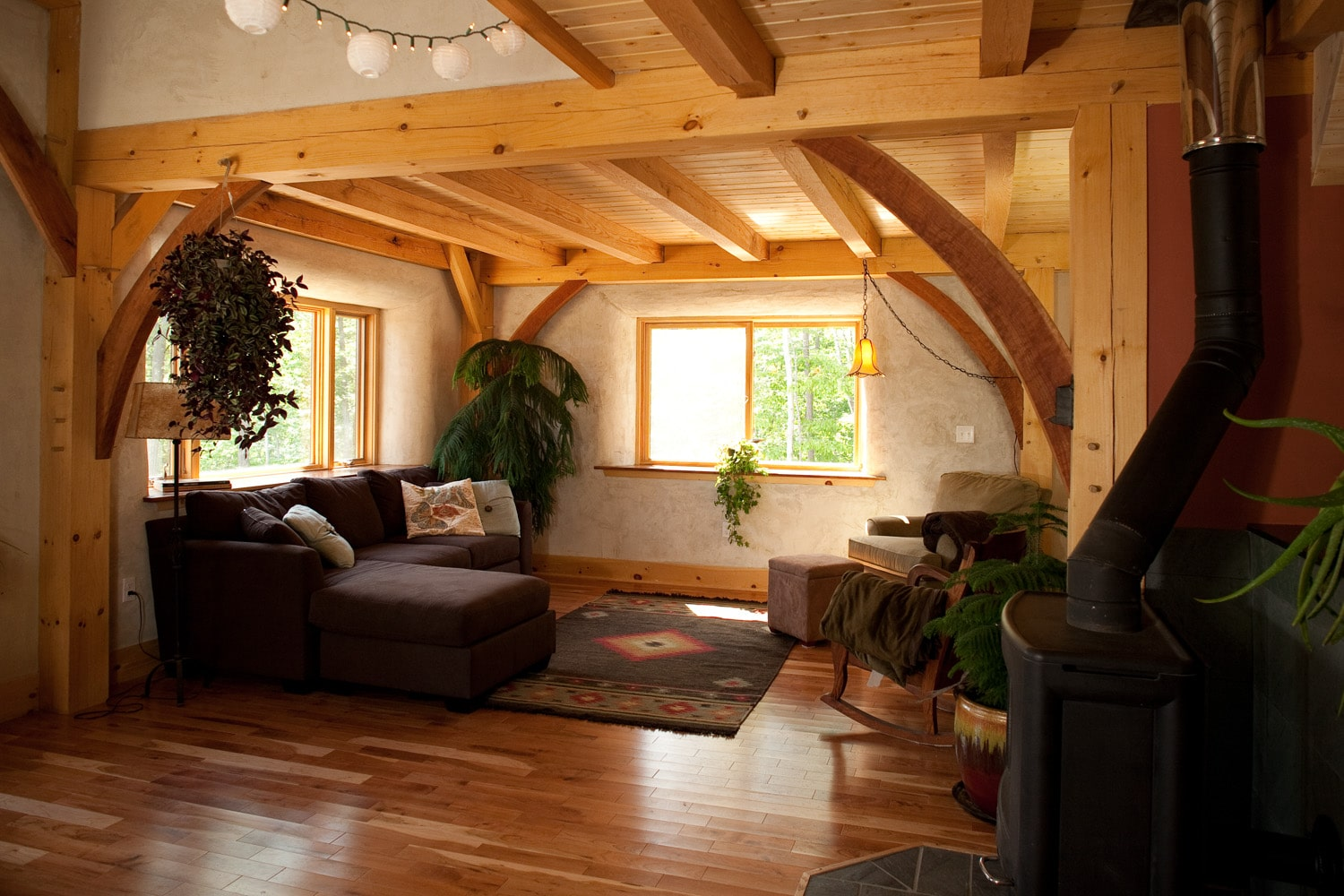 Yestermorrow Collaboration on a Natural Timberframe Home