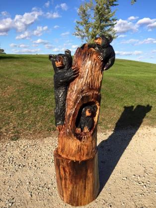 3 bears in tree