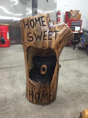 bear in log
