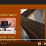 Holzwurm: Benni zeigt, wie man ihn wieder los wird (Video)