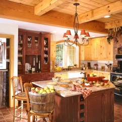 Kitchen Island With Oven Wooden Cart Mismatched Cabinets | Timberpeg Timber Frame Post And Beam