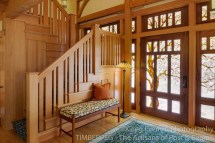 California Craftsman Style Timberpeg Timber Frame Post