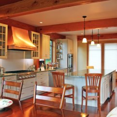Kitchen Island Ideas For Small Kitchens Big Sinks Layout Post And Beam Homes | Timberpeg ...