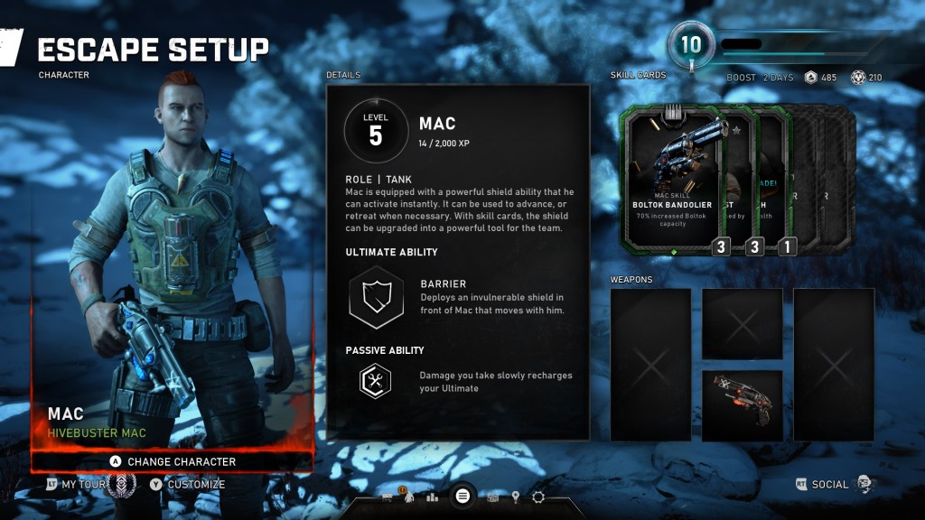 Gears 5 mac escape character selection