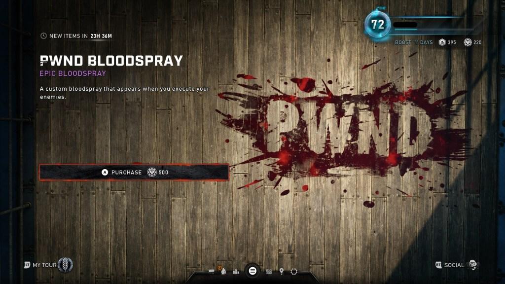 Gears 5 pwnd blood spray 101919 daily