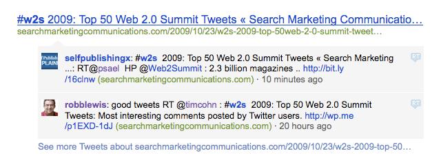 Bing Tweets Links
