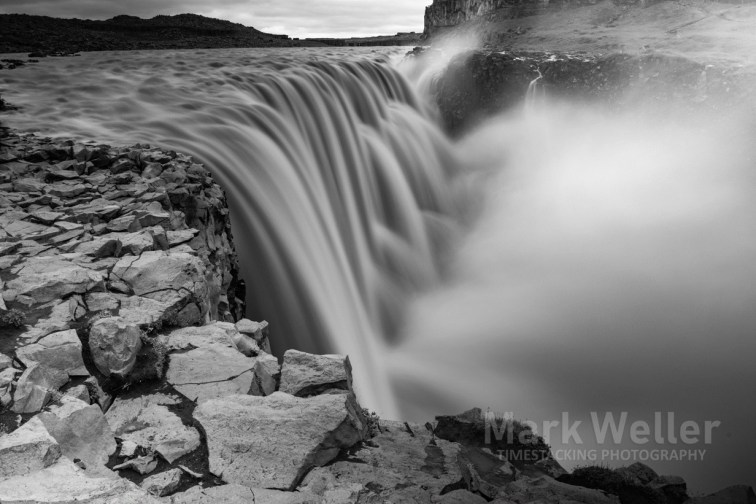 Timestack photography of black_and_white water fall