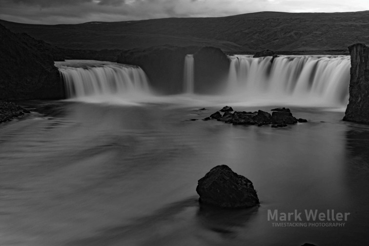 Timestack photography of black_and_white water falls