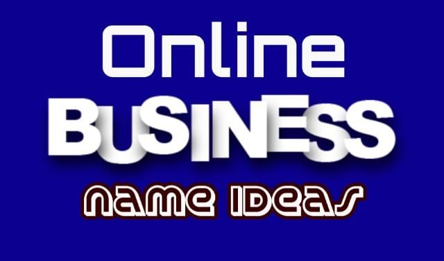 Online Business Name Ideas for Startup