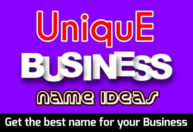 Unique Business Name Ideas in India for Startup