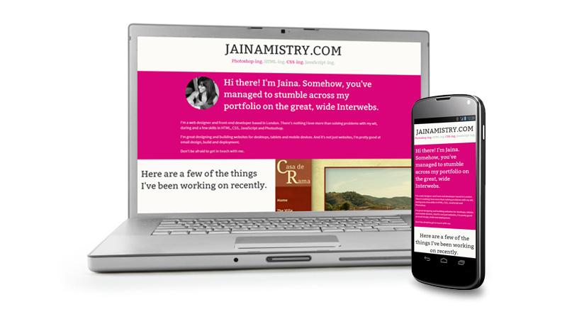JainaMistry.com Portfolio Redesign