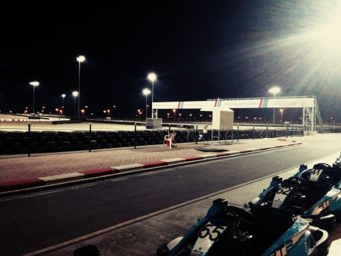 Day 146: Evening at the go-kart track.