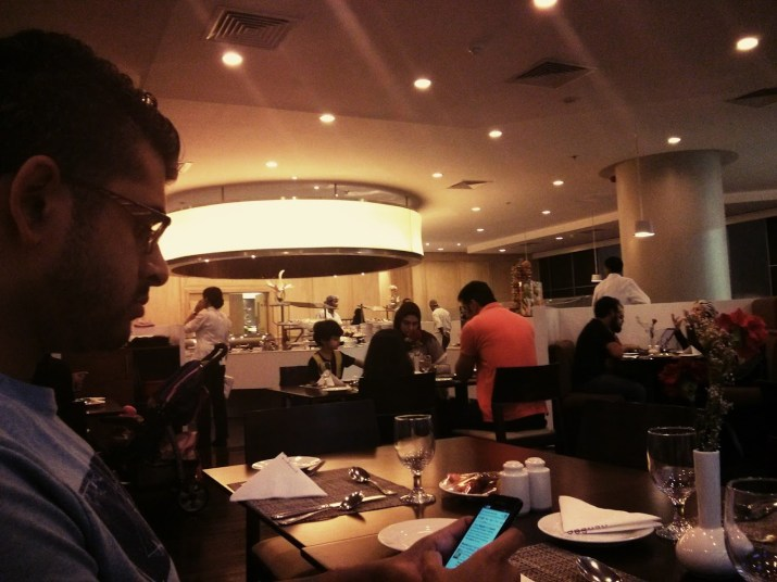 Day 193 Iftar at Rendez Vous. Waiting semi-patiently for the time to turn and the buffet to be open.