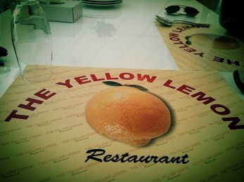 "Day 264 Went to eat lunch at a restaurant called The Yellow Lemon today. Though unsure what other colours lemons come in. Incidentally, was not the only restaurant called ""Lemon"" that was visited that day."
