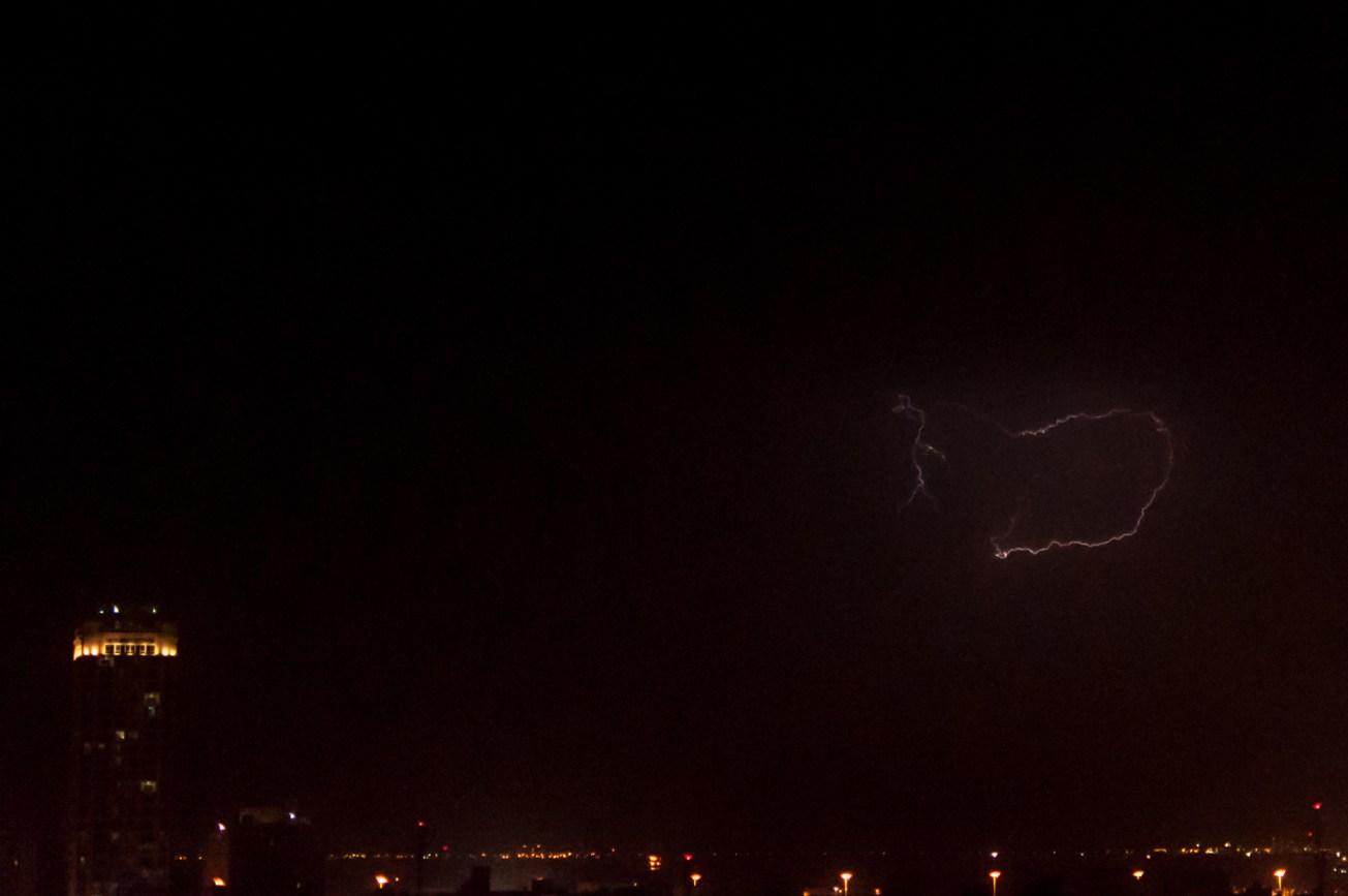 Almost lightning shot
