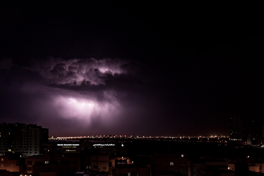 Lightning in Bahrain