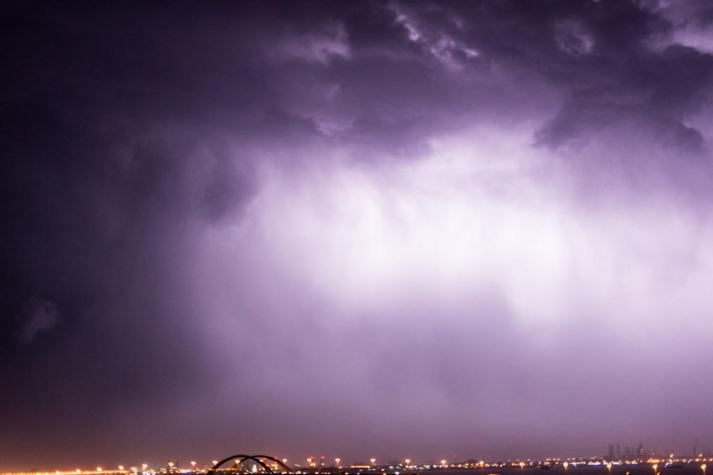 Lightning in Bahrain