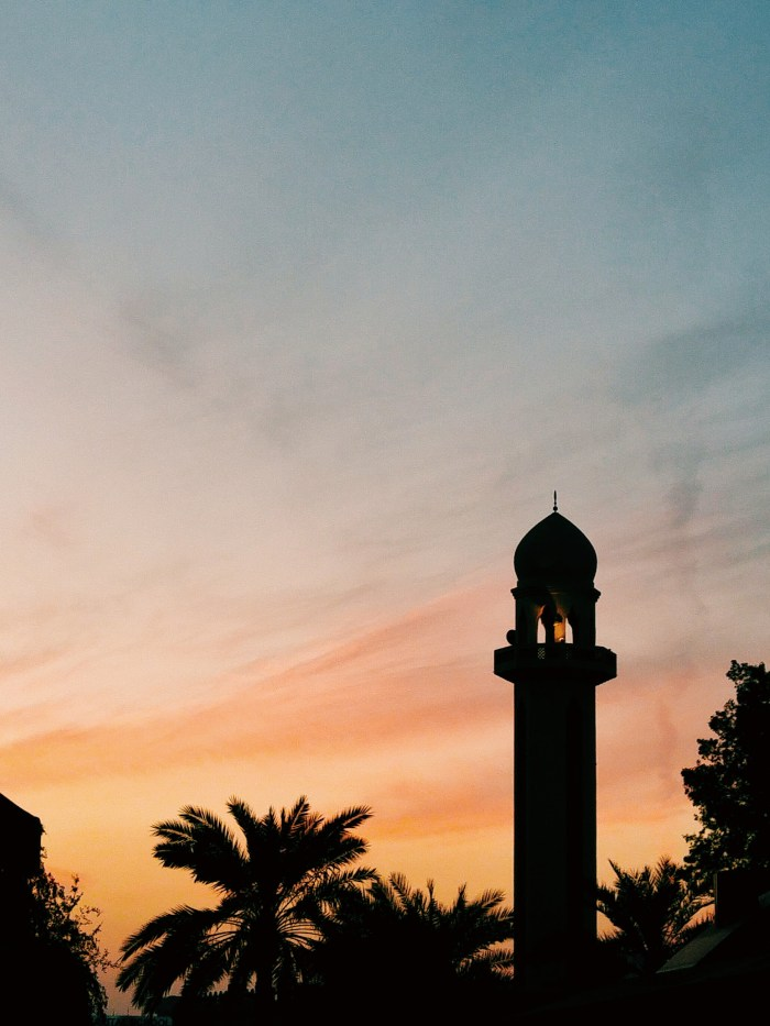 Minaret and a Sunset