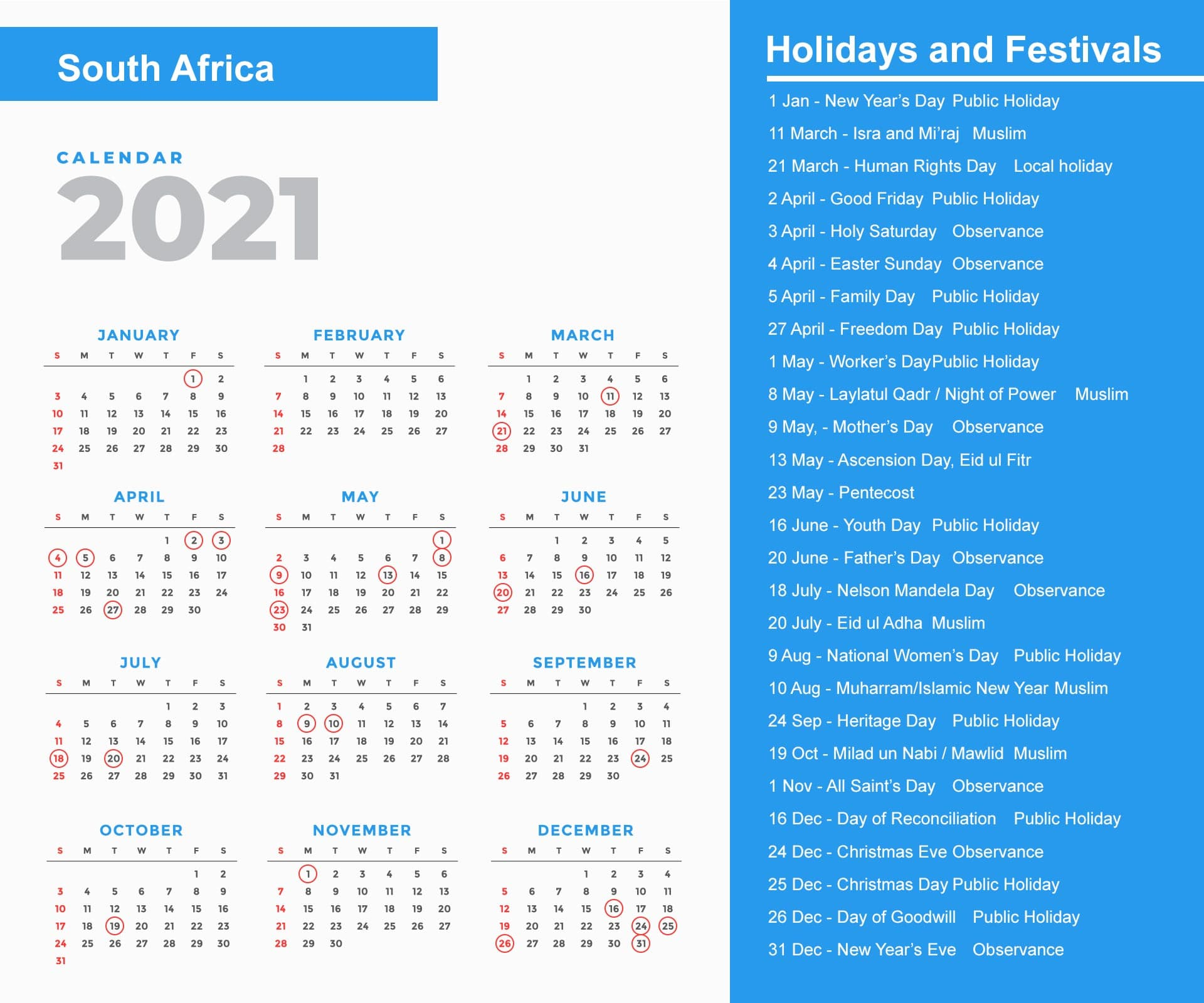 They are also a time of year when you may have some time on your hands and are looking for a craft project to keep you and the kids occupied. South Africa Holidays 2021 and Observances 2021