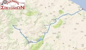 1o rally regularity sikionion Map 2