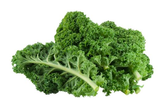 36834240 - kale close up on white background.