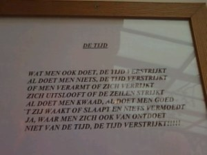 "Dutch Time Poem ""De Tijd"""