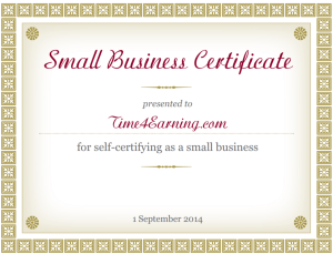 Small business certification - Time4Earning