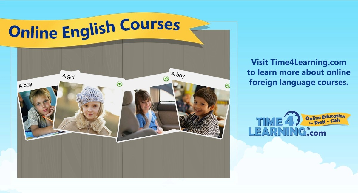 Online English (american) Language Course  Time4learning