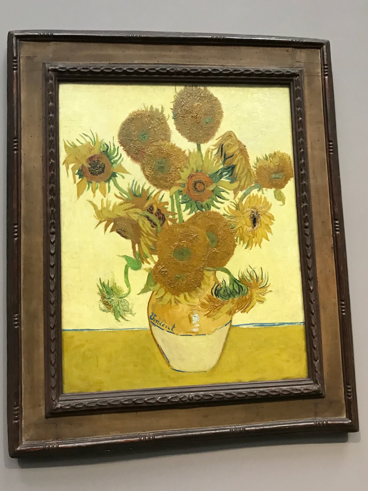 National gallery, the Sunflower, Van Gogh, art