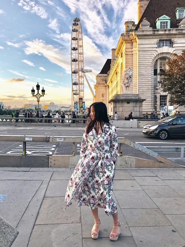 outfit of the day the london eye mango dress