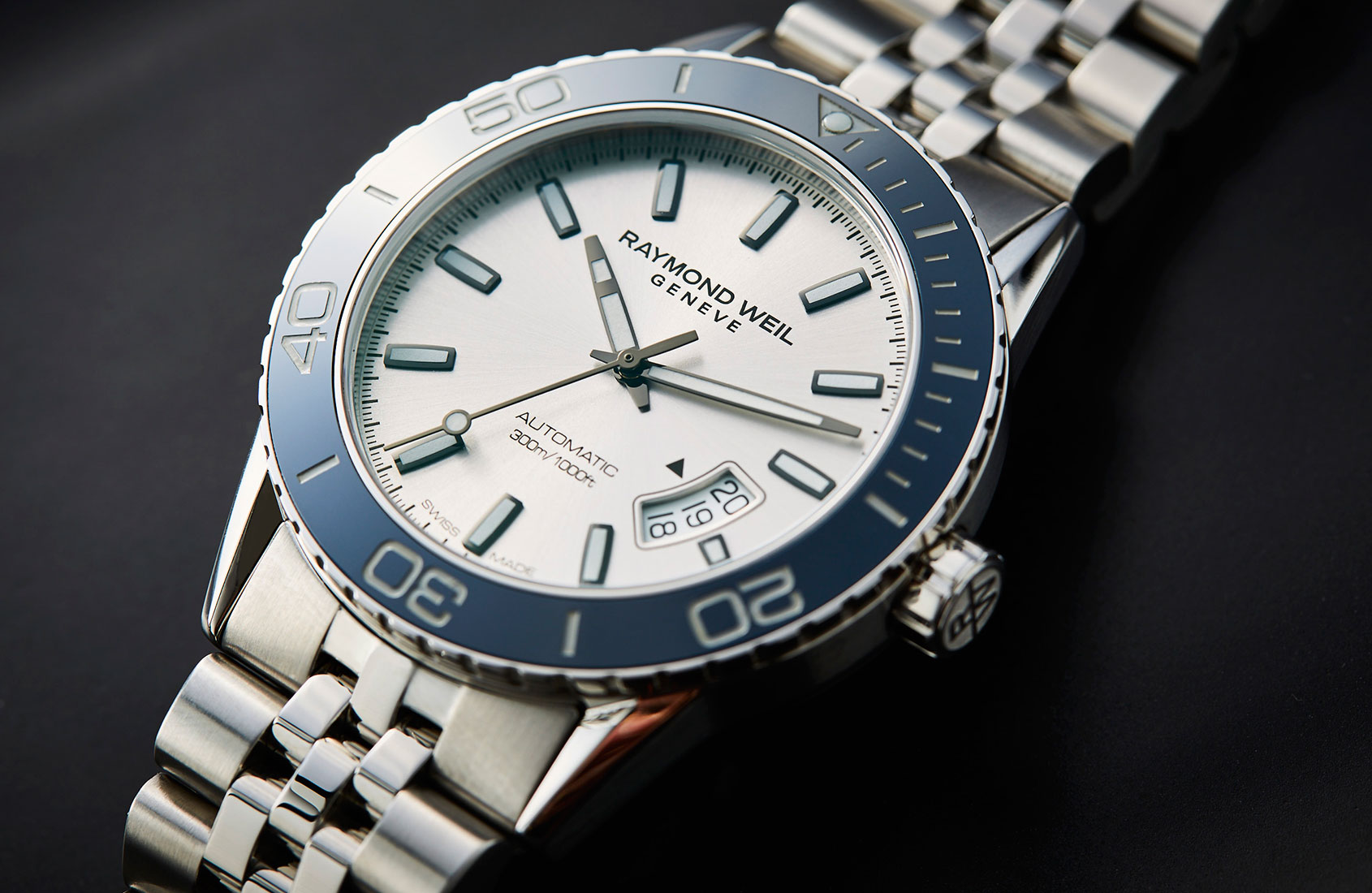 HANDSON Take the plunge with the Raymond Weil Freelancer Diver  Time and Tide Watches