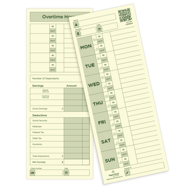 employee time card works for weekly pay period