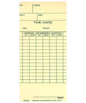 ATR420 Weekly/Bi-Weekly Time Card ATR414