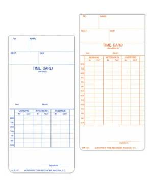 ATR120 Weekly/Bi-Weekly Time Card