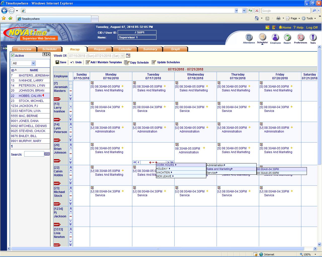 Novatime Web Time And Attendance System