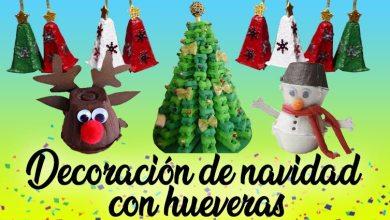 header decoración de navidad con hueveras