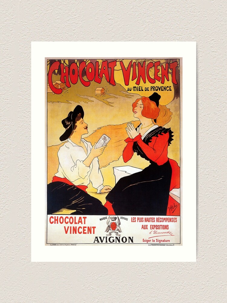 Chocolate Vincent vintage chocolate poster