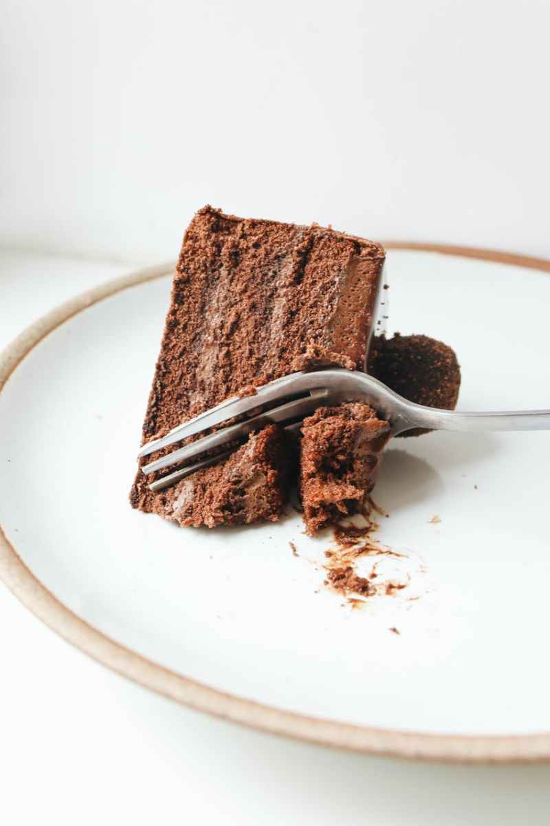 close up photo of sliced chocolate cake