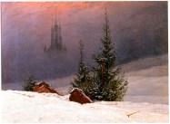 Winterlandschaft mit Kirche (winter landscape with church), 1811