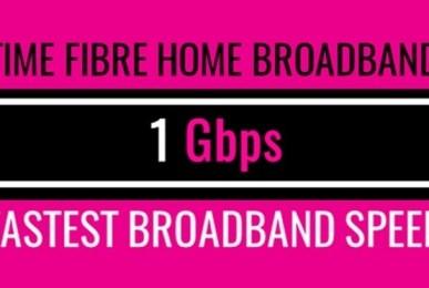 Time fibre home broadband 1 gbps