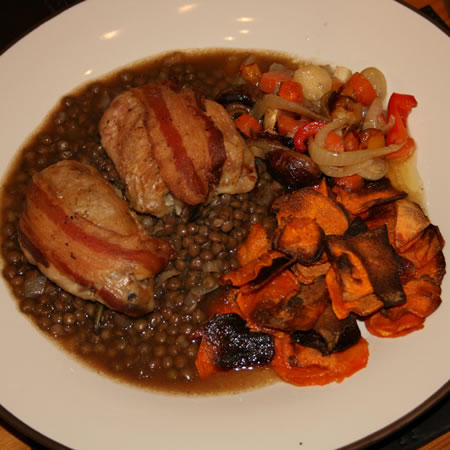 Chicken with Lentils and Vegetables