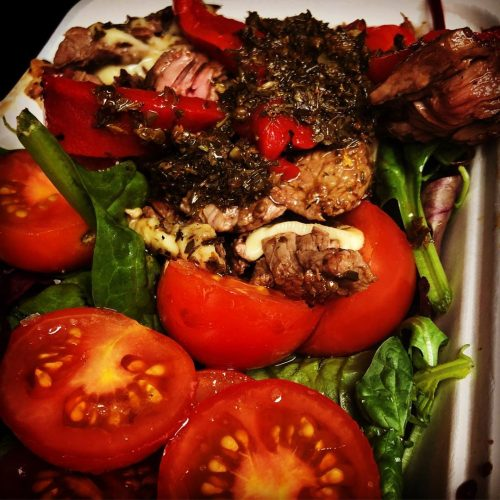 steak and salad box