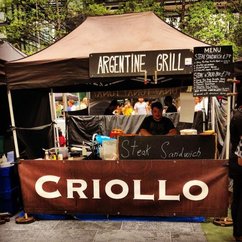 Criollo street food stall