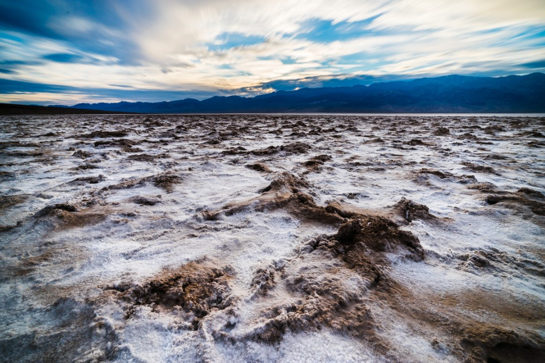 Salt patterns stretch to the horizon in Badwater Basin