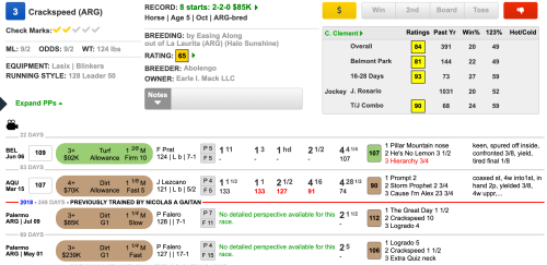 small resolution of friday timeformus highlight horse crackspeed is a wire to wire threat if he can harness his speed