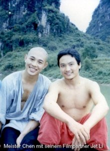 Filmpartner Chen Shi Hong und Jet Li