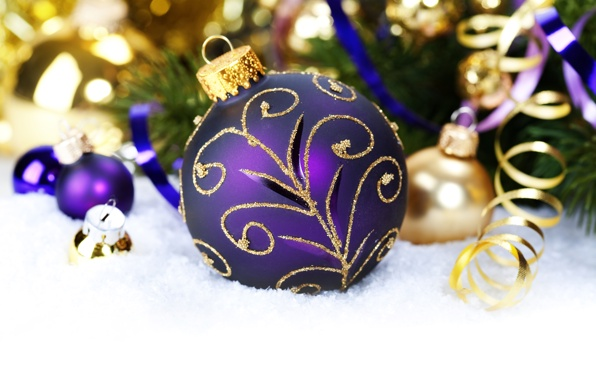 Christmas Decorations Purple And Gold